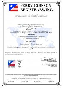 Certificato Morani srl 14001-2015