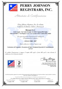 Certificato Morani srl 18001-2007
